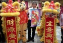 Twin Lion Dance & Mascot with Unveilling of banners