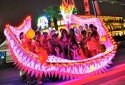 Wenyang Sports Association LED lighted Dragon Dance